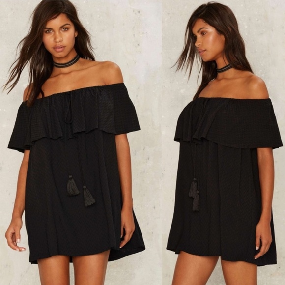 Nasty Gal Moving Tassel Mini Dress 0b4b289c9